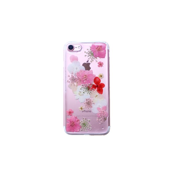 HHSJ Protective Clear Soft TPU Real Dried Flower Case for iPhone X 8 8 Plus 7 7 Plus 6 6s 6 Plus 6s Plus