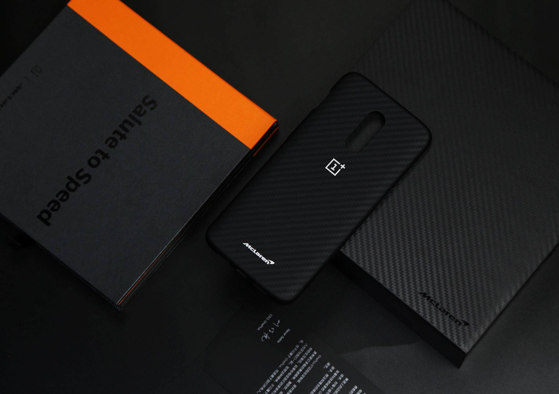 One plus 6T McLaren custom version out of the box