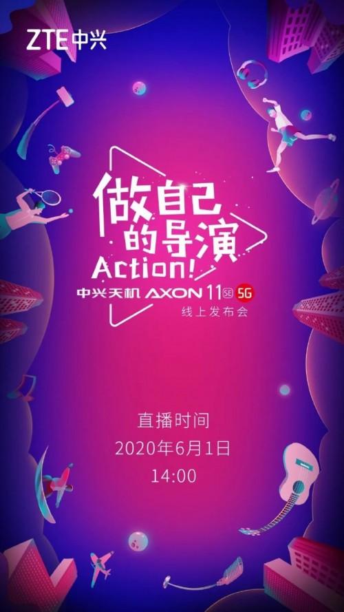ZTE Axon 11 SE launch date poster