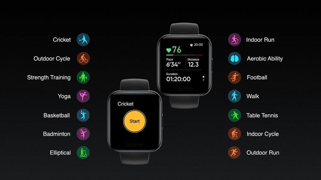 Realme Smartwatch Exercise