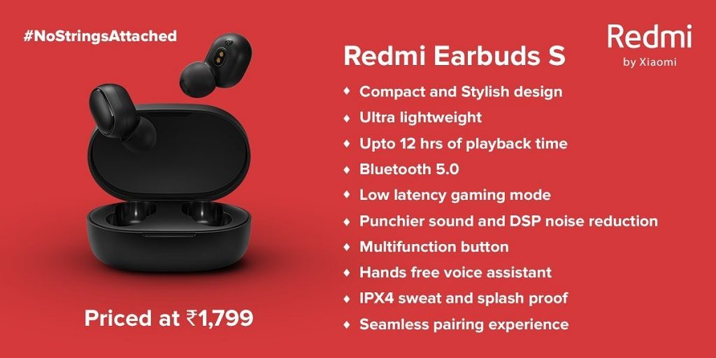 Redmi Earbuds S features