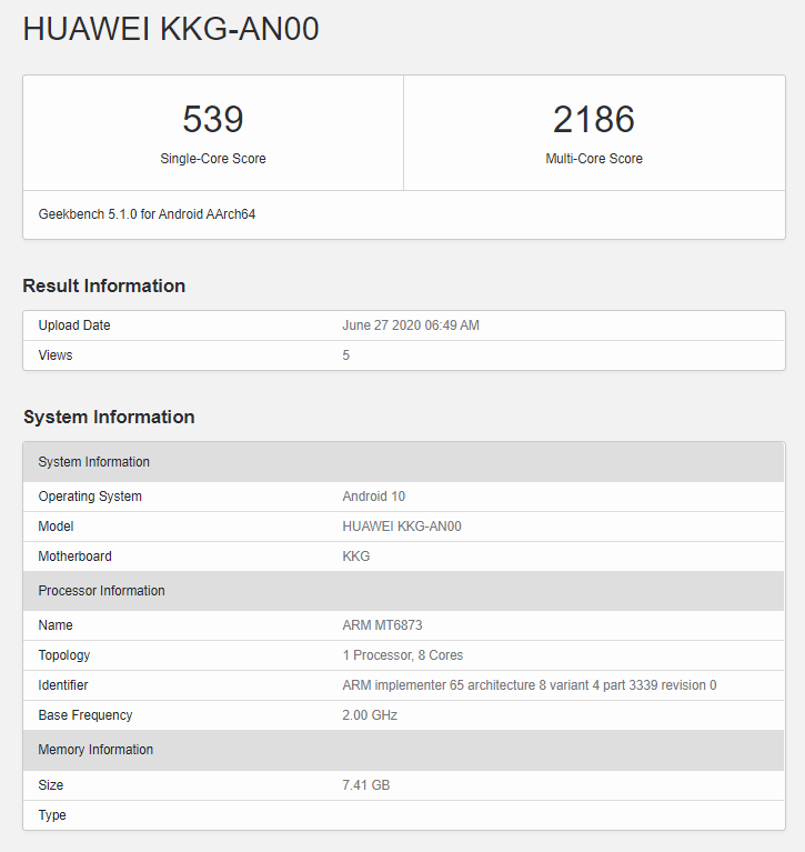 Honor X10 Max 5G Hits GeekBench With 8GB Of RAM
