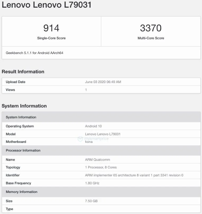 Lenovo Legion Gaming Phone Arrives On Geekbench With SD 865 Chipset