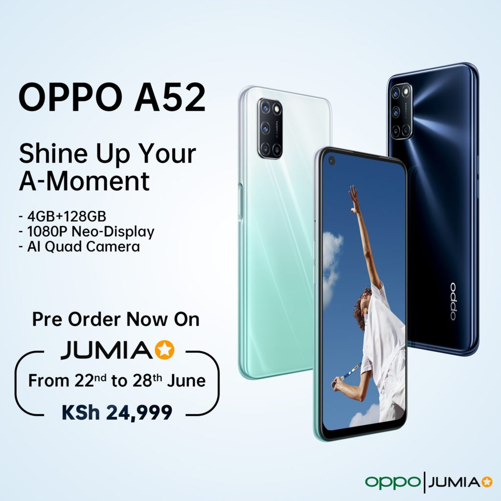 Oppo A52 Goes For Pre-Order In Kenya Via Oppo Jumia Store