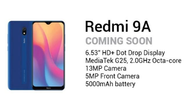 Redmi 9A specs