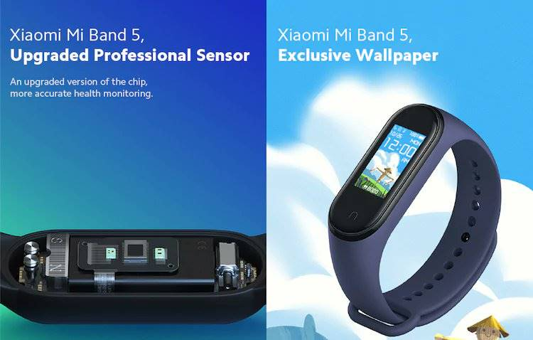 Xiaomi Mi Band 5 Listed On GearBeast And Giztop Store Showcasing Its Exclusive Wallpaper And Pricing