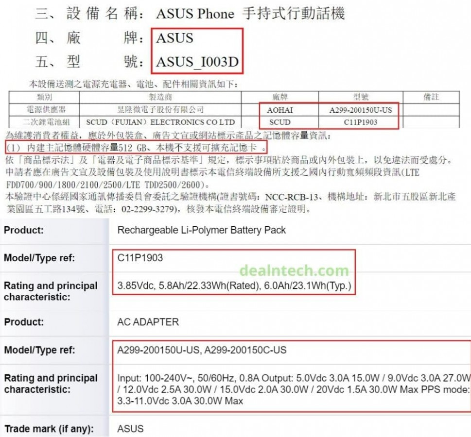 Asus ROG Phone 3 More Specs Confirmed By NCC Certification