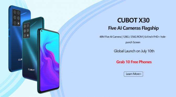 Cubot X30 With Penta-Camera Setup and Hole-Punch Display Will Launch On July 10