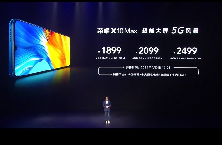 Honor X10 Max With a Mammoth 7.09-inch RGBW Display Launched In China; Starts From CNY 1,899($269)
