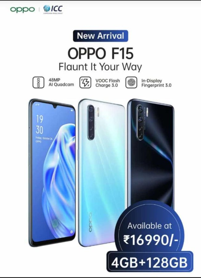 Oppo F15 New 4GB + 128GB Variant Launched In India