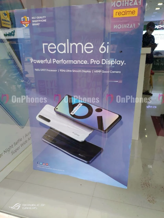 Realme 6s to Arrive In India As Realme 6i; Specs and Details
