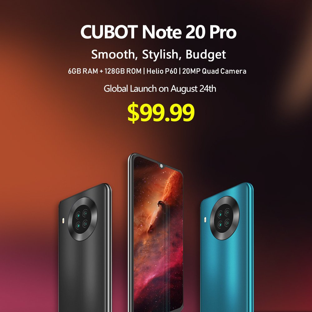 Cubot Note 20 Pro With Quad-Cameras and 6GB of RAM Launched For $99.9 2