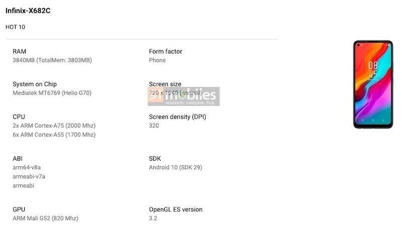 Infinix Hot 10 Play Console Listing Reveals Key Specs