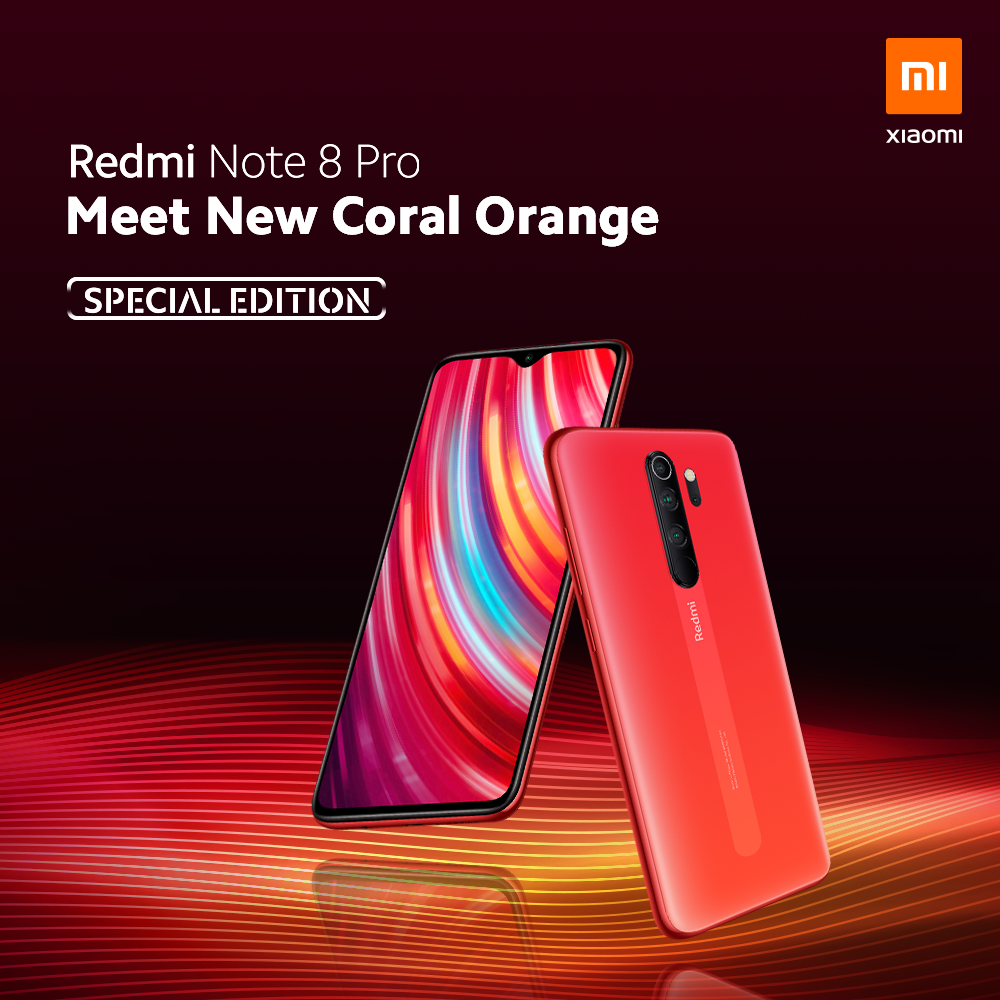 Redmi Note 8 Pro Arrives In New Coral Orange Color Variant