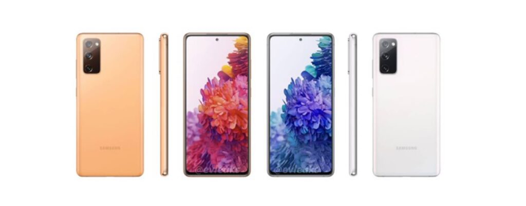 Samsung Galaxy S20 FE More Renders Leaked Revealing All The Colors
