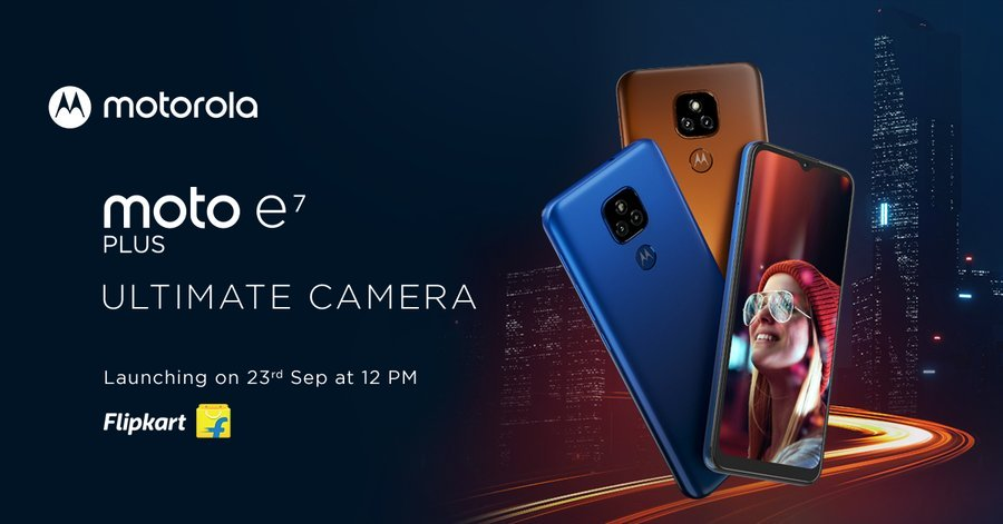 Moto E7 Plus Will Launch On September 23 In India