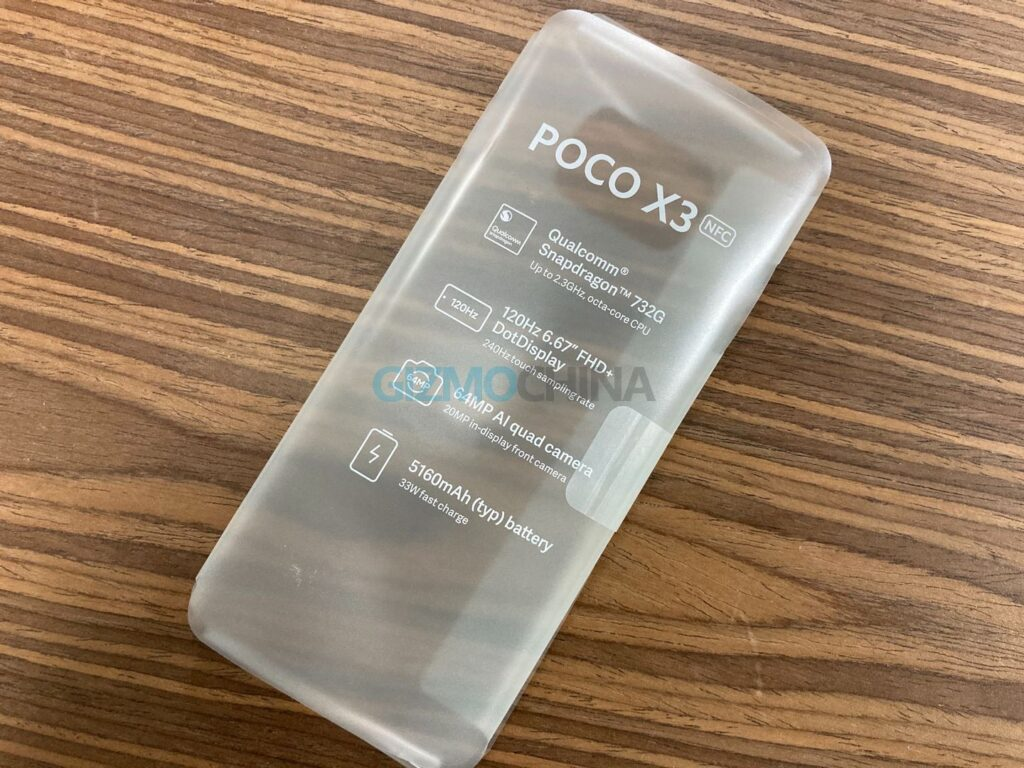 Poco X3 NFC Protective Sleeve Confirms Last Minute Details; SD 732G, 5,160mAh Battery, and More