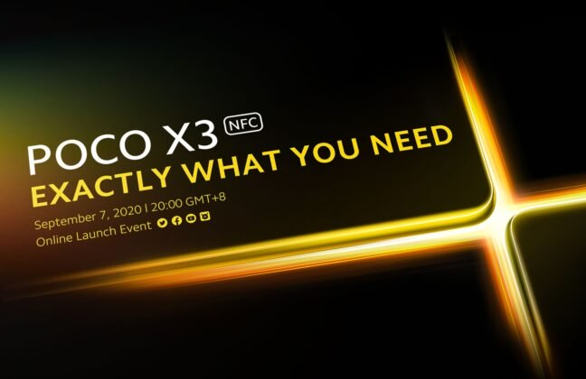 Poco X3 NFC Will Launch On September 7; GeekBench Results Also Outed