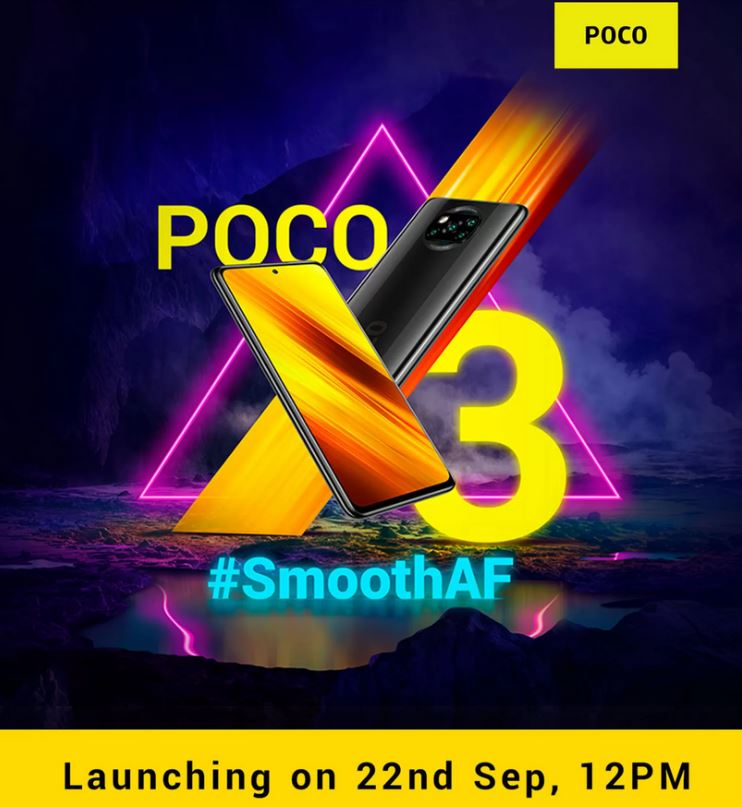 Poco X3 Will Launch On September 22 In India