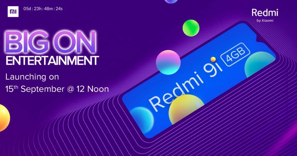 Redmi 9i Launch Scheduled For September 15; Rumored To Start at INR 7,999($109)