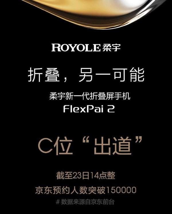 Royale FlexPai 2 Gets Over 150,000 Reservations In China