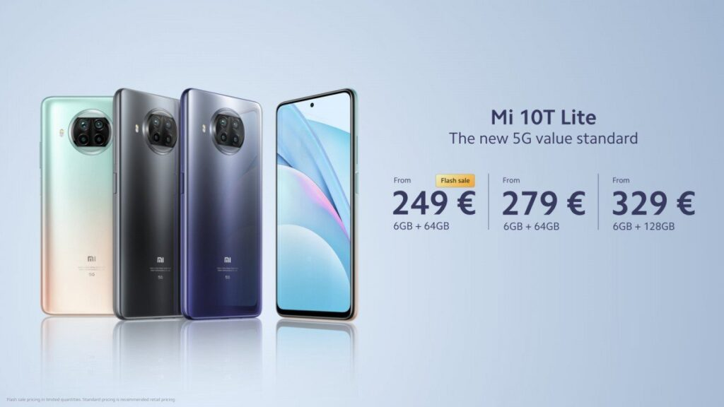 Xiaomi Mi 10T Lite Launched In Europe With The Latest Snapdragon 750G SoC and 120Hz Display