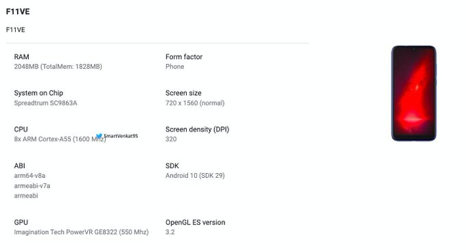 Gionee F11VE Emerges On Google Play Console With HD+ Display and 2GB of RAM