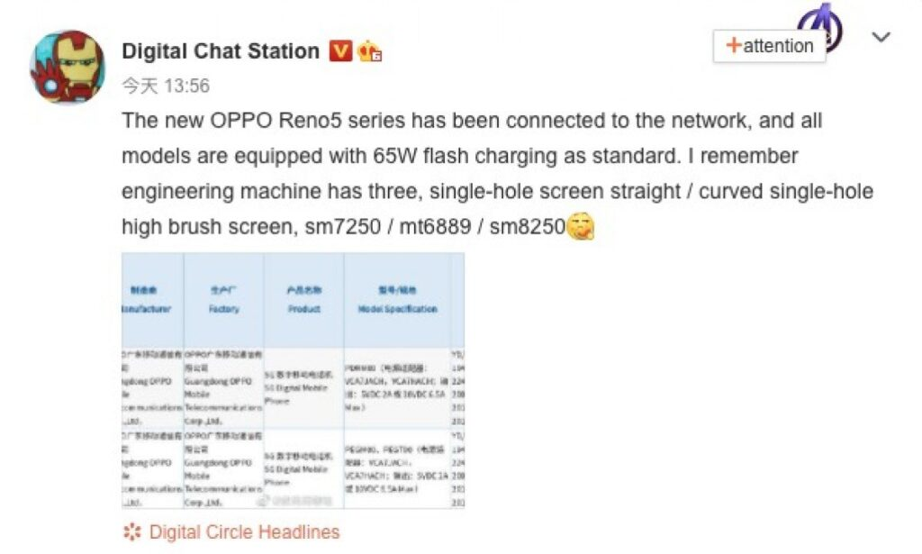 Oppo Reno5 Series Comprising Three Phones Will Launch Next Month With These Specs