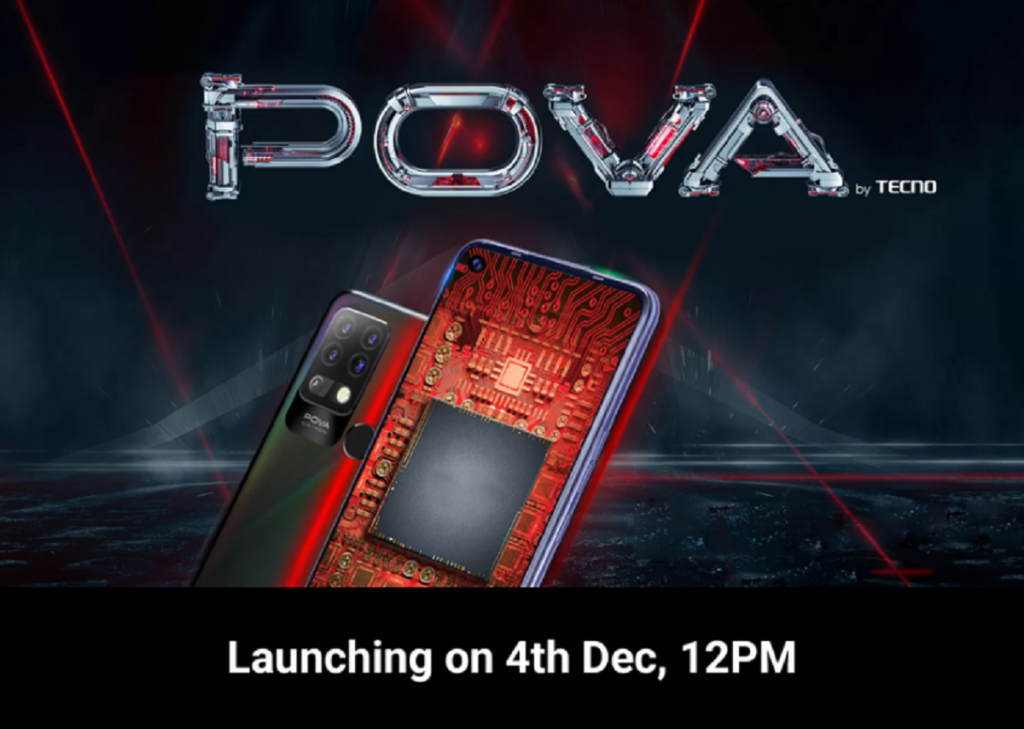 Tecno Pova Indian Launch Scheduled for December 4