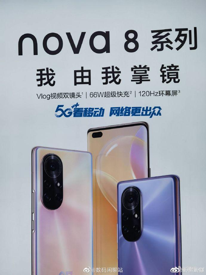 Huawei Nova 8 Promo Posters Showcase Its Design Revealing a few Highlights