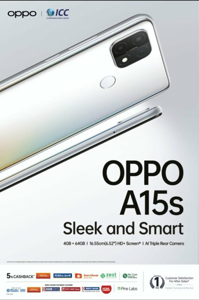 Oppo A15s Poses for a Promo Image