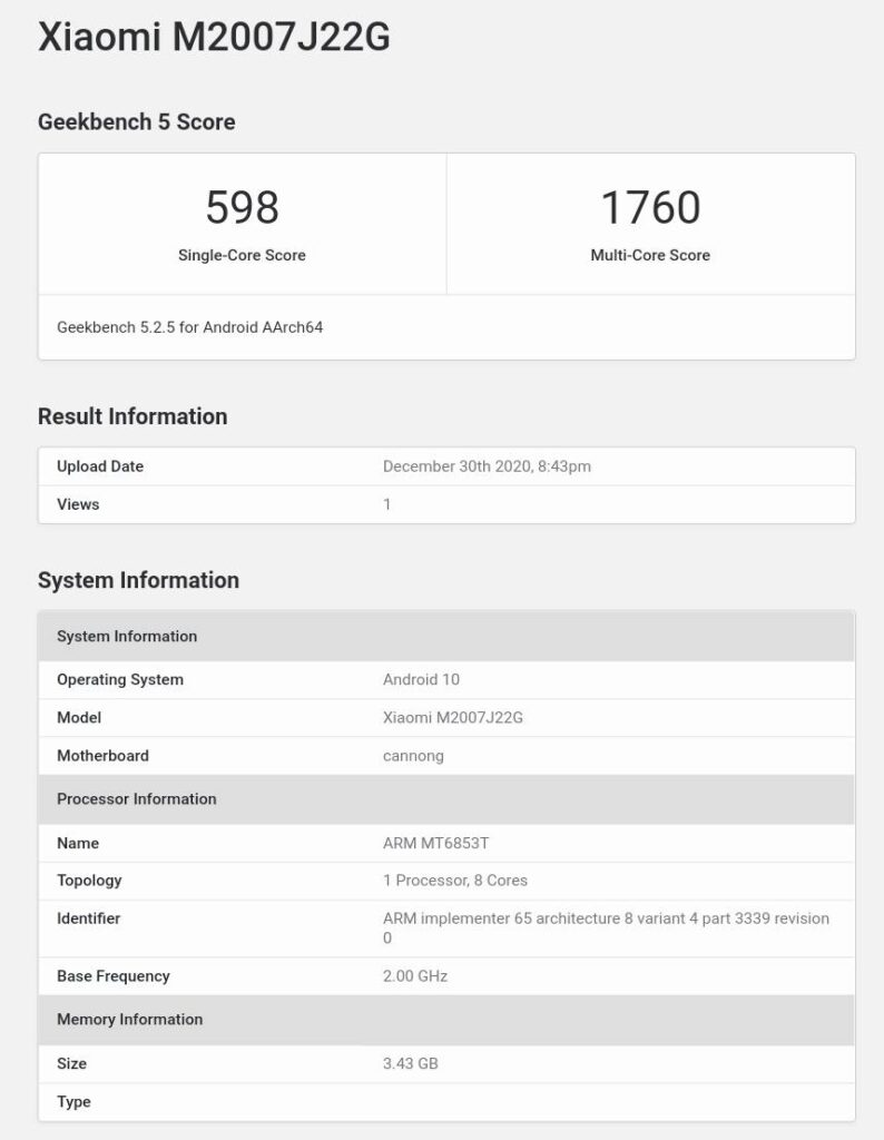 Redmi Note 9T 5G Emerges On Geekbench; Could Be a Rebadged Note 9 5G
