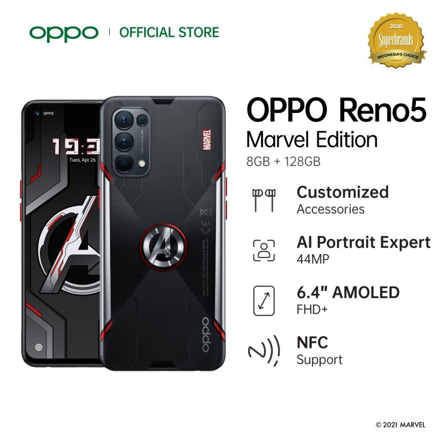 Oppo Reno5 Marvel Edition Heads to Indonesia: All Specs