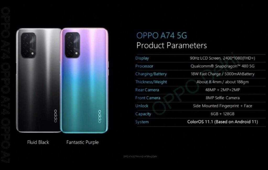Oppo A74 5G Entire Specs Leaked Ahead of Launch